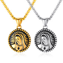 Wholesale Stainless Steel New Arrivals Virgen Maria Pendant Necklace