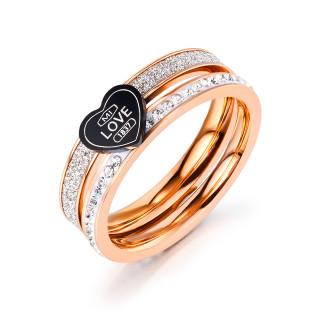 Wholesale Stainless Steel Women Heart Promise Ring