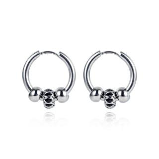 Wholesale Stainless Steel Men Hip Hop Earrings