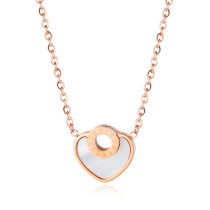 Wholesale Stainless Steel Pearl Oyster Round Heart Necklace
