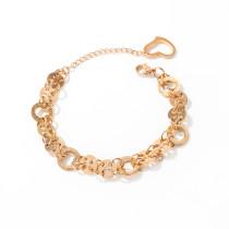 Wholesale Stainless Steel Multi Ring Link Chain Modern Bracelet