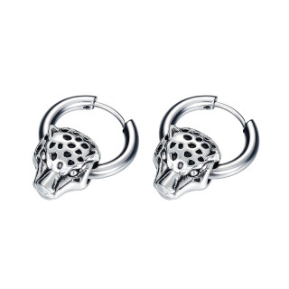 Wholesale Stainles Steel Personality Leopard Head Stud Earrings