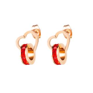 Wholesale Stainless Steel Korean Style Women Heart Ear Stud