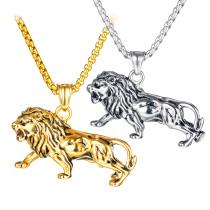 Wholesale Stainless Steel Men's Unique Lion Pendant Necklace