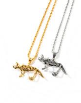 Wholesale Stainless Steel Vintage Dinosaur Skeleton Necklace