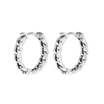 Wholesale Stainless Steel Curb Link Chain Huggie Hoop Earrings