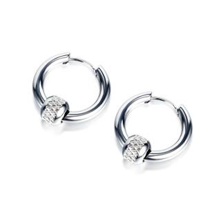 Wholesale Stainless Steel Hoop Earring with 5mm Bead