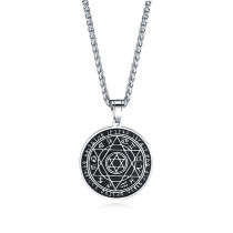 Wholeale Stainless Steel Solomon Six-sided Star 12 Constellation Pendant