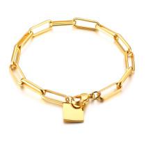 Wholesale Stainless Steel Women Paperclip Link Chain Bracelet