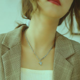 Wholesale Stainless Steel Fashion Chain Heart Pendant Necklace