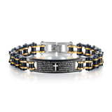 Wholesale Stainless Steel Men's Bible Bike Chain Bracelet