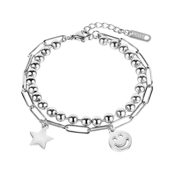 Wholesale Stainless Steel Steel Ball and Chain Link Bracelet