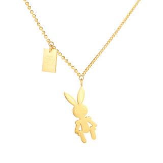 Wholesale Stainless Steel Minimalist Rabbit Pendant Necklace