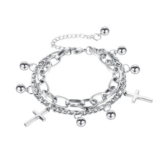 Wholesale Stainless Steel Bracelet Mix & Match with Cross