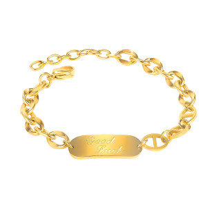 Wholesale Stainless Steel Women Cuban Link Bracelet for Good Luck