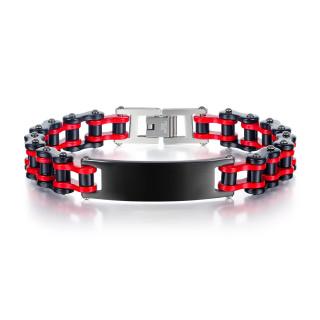 Wholesale Stainless Steel Bike Bracelet with Blank Plate