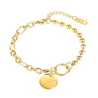 Wholesale Stainless Steel Women Luck Bracelet