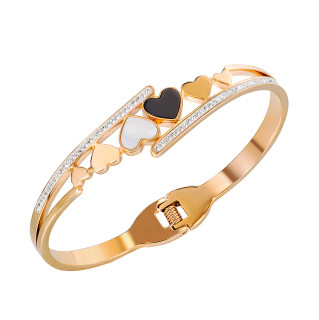 Wholesale Stainless Steel Bangle with Hearts
