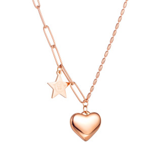 Wholesale Stainless Steel Love Heart Multi Chain Necklace