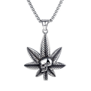 Wholesale Stainless Steel Mens Pendant with Skull