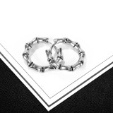Wholesale Stainless Bamboo Hip-Hop Earrings