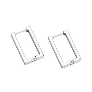 Wholesale Stainless Steel Rectangular Hoop Earring