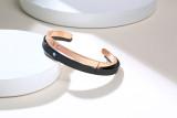 Wholesale Steel Couple Cuff Bangle Set Engraved