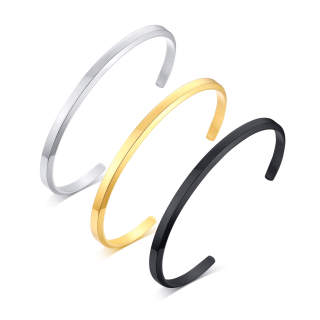 Copy Wholesale Stainless Steel Couple Cuff Bangle
