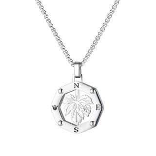 Wholesale Maple Leaf pendant Stainless Steel