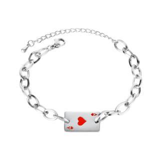 Wholesale Poker A Bracelet Stainless Steel