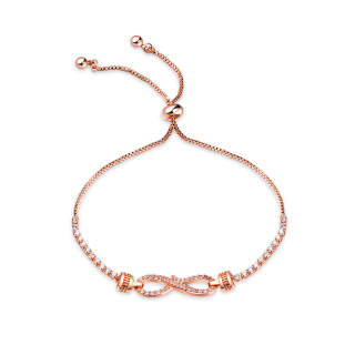 Wholesale Adjustable CZ Infinity Bracelet for Women