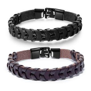 Wholesale Alloy Men's Braided Loom Bracelet