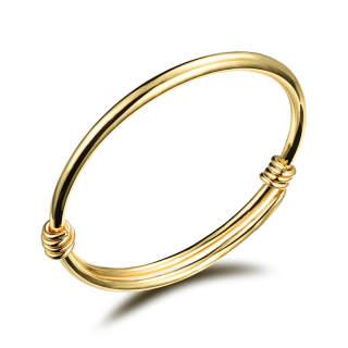 Wholesale Gold Adjustable Brass Bangles