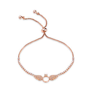 Wholesale Angel Wings Copper Bracelet With CZ