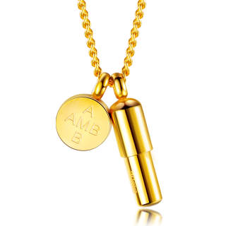 Wholesale Stainless Steel Pill Charm Necklace