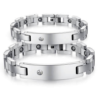 Wholesale Stainless Steel Magnetic Therapy Bracelet For Couples