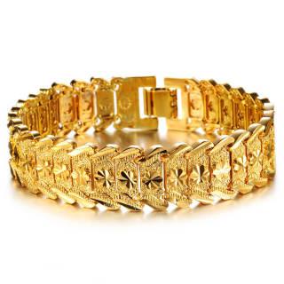 Wholesale Golden Brass Bracelet For Men
