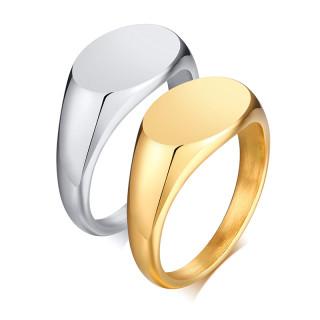 Wholesale Steel Women's Engraving Signet Ring