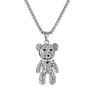 Wholesale Teddy Bear Pendant Necklace