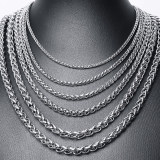 Wholesale Stainless Steel Keel Chain Necklace