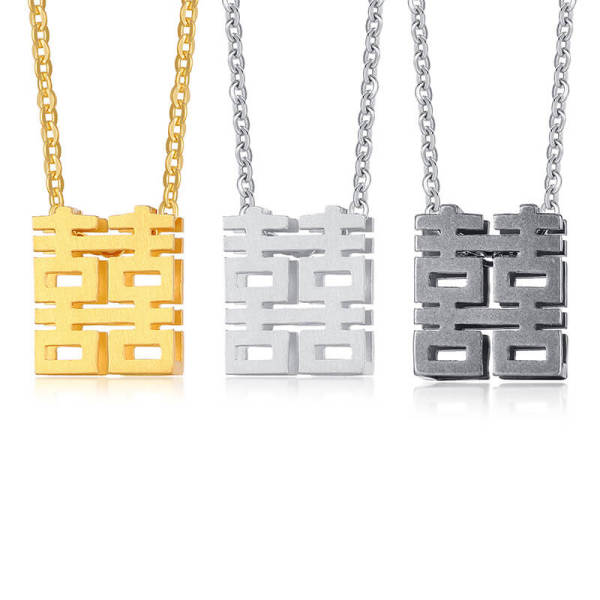 Wholesale Stainless Steel Chinese Xi Pendant