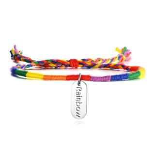 Wholesale Stainless Steel Colorful Rainbow Bracelets