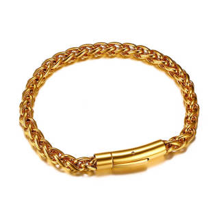 Wholesale Stainless Steel Gold Tone Chain Bracelet