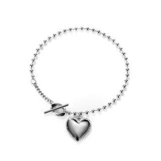 Wholesale Stainless Steel Chain Bracelet with Heart