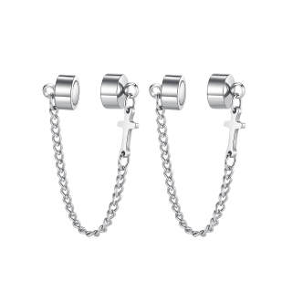 Wholesale Mens Stainless Steel Ear Clips