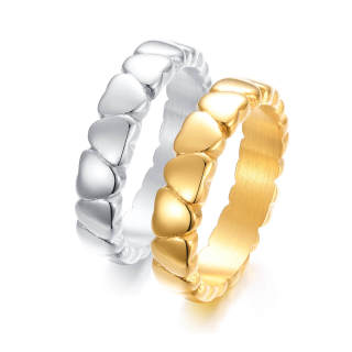 Wholesale Stainless Steel Heart Ring