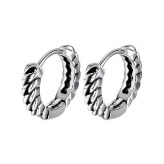 Wholesale Mens Stainless Steel Hoop Earrings