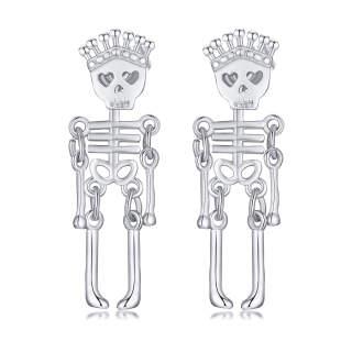 Wholesale Stainless Steel Skeleton Earring