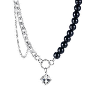Wholesale Stainless Steel Chain with Beads Necklace