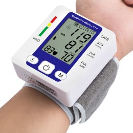 Electric Wrist Blood Pressure Monitor Portable Sphygmomanometer